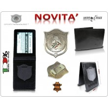 Portadocumenti + con Placca Operativa GPG-IPS PANTERA Guardia Particolare Giurata Incaricata di Pubblico Servizio Nazionale Ascot Italy Novità