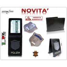 Portadocumenti + Senza Placca Operativa Polizia di Stato Ascot Italy Novità Art.360PS