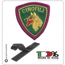 Patch Toppa Polizia di Stato Cinofili Ricamata con Velcro Art.EU551