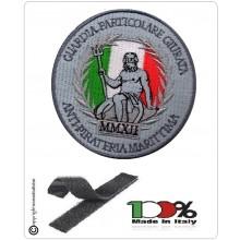 Patch Toppa con Velcro Nuova Figura Guardia Particolare Giurata ANTIPIRATERIA MARITTIMA MMXII  DM 266/2012 Art.P-MARI