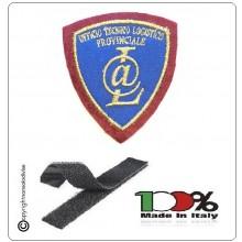 Patch Toppa Scudetto Polizia di Stato Ufficio tecnico logistico Provinciale New Ricamata con Velcro Art.PS-UTLP