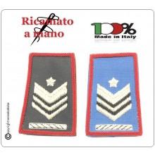 Tubolari Ricamati a Mano Carabinieri Invernali o Estivi Nuovi Gradi Riforma Brigadiere Capo con Carica Speciale Art.CC-NEW-2