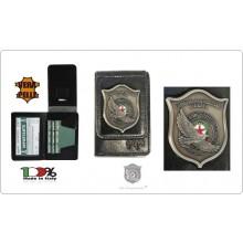 Portafoglio Portadocumenti Nero Placca Fissa GPG I.P.S. AQUILA® Guardia Particolare Giurate Incaricato di Pubblico Servizio Novità 1WD 600 Art.GPG-IPS-1931