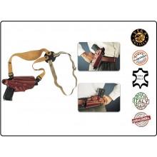 Fondina Professionale in Cuoio Ascellare e da Cintura Pelle Vega Holster Italia Art.01-AUT