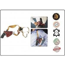 Fondina Professionale in Cuoio Ascellare e da Cintura Pelle Vega Holster Italia Art.01-REV