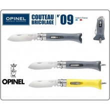 Coltello Serramanico Originale OPINEL Couteau Bricolage n° 09, grigio  Art.OP00001804