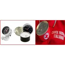 Orologio da Tavolo in Lattina di Alluminio Idea Regalo Croce Rossa italiana CRI con Possibilità di Inserire la Foto Art.LATTA-3
