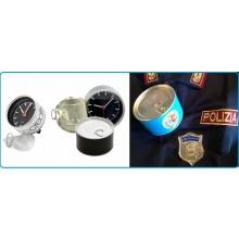 Orologio da Tavolo in Lattina di Alluminio Idea Regalo Polizia di Stato con Possibilità di Inserire la Foto Art.LATTA-2