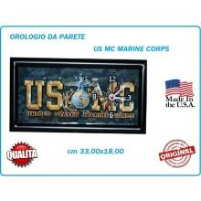 Orologio da Partete Ful Metal 33x18 cm U.S. MARINE CORPS  USMC Art.419500-2702