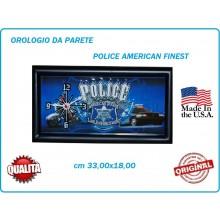 Orologio da Partete Ful Metal 33x18 cm Police Americano Art.419500-2703