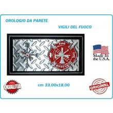 Orologio da Partete Ful Metal 33x18 cm Vigili Del Fuoco Fire Figter Art.419500-2704
