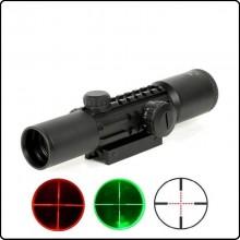 Ottica per fucili di Precisione Royal  2,6x28 (6X) Reticolo Rosso o Verde Art.2-6X28E