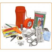 Survival Kit 34 pezzi Scatola Impermeabile EXTREME Outdoor Survival Pack Campeggio Sopravvivenza Escursioni Art.27111