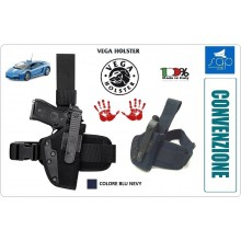 Fondina Cosciale Tactical in Cordura Blu Nevy Polizia di Stato CONVENZIONE SAP Vega Holster Italia Art.PA2-SAP