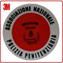 Adesivo 3M Per Paletta Rosso A.N.P.P.E. Associazione Nazionale Polizia Penitenziaria Modello 2 Art.R0081