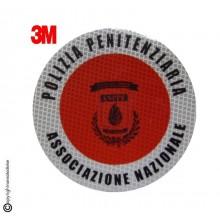 Adesivo 3M Per Paletta Rosso A.N.P.P.E. Associazione Nazionale Polizia Penitenziaria Art.R0080