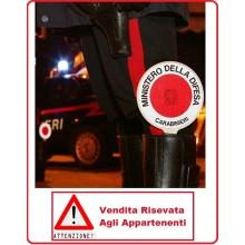 Adesivo Per Paletta Rosso Carabinieri VENDITA RISERVATA Art.R0042