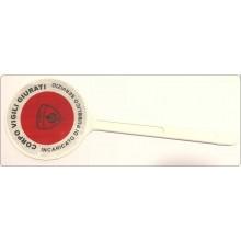 Paletta Segnaletica Ambo le Parti Rosse Corpo Vigili Giurati Incaricato di Pubblico Servizio Art.NSD-VG