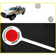 Paletta Segnaletica Ambo le Parti Rosse Protezione Civile Servizio Sicurezza Art.R0063
