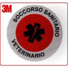 Adesivo Per Paletta Rosso Soccorso Sanitario Veterinario Art.PALSSV