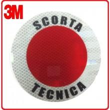 Adesivo 3M Per Paletta Rosso Scorta Tecnica Art.NSD-ST