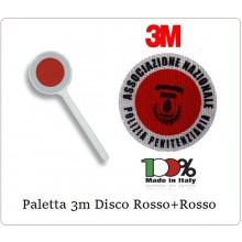 Paletta Segnaletica Ambo le Parti Rosse Associazione Nazionale Polizia Penitenziaria A.N.PE. Art.R0082
