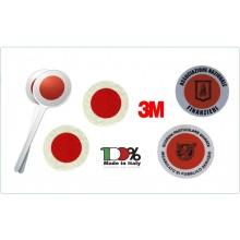 Paletta Segnalazione con Adesivi 3M Omologati Personalizzati con Logo e Scritte del Vostro Gruppo Parte Rossa + Rosso Classe III°  Art.0001