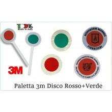 Paletta Segnalazione con Adesivi 3M Omologati Personalizzati con Logo e Scritte del Vostro Gruppo Parte Rossa Parte Verde Classe III°  Art.0002