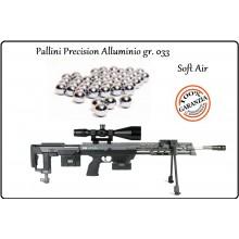 Pallini Alluminio Precision gr 0,33 Soft air Cecchino Precisione da 500bb. Art.P.33