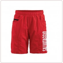 Shorts Pantaloncini Salvataggio Bagnino Salvamento LIFEGUARD Baywatch Rosso Uomo o Donna Villaggio Vacanze Mare Art.LIFE-4