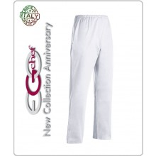 Pantalone Coulisse Cuoco Chef Alimentarista Banconiere Bianco Art.3504001A