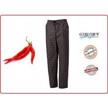 Pantaloni Cuoco Chef Medicale Atene Giblor's Peperoncino Italia  Art.10M1532
