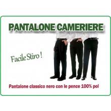 Pantalone Professionale Cameriere Nero Facile Stiro Giblor's Art.90