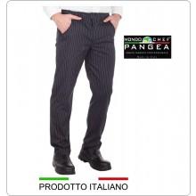 Pantaloni Unisex Cuoco Chef Canada Gessato Elasticizzato Leggero Pangea 100% Italia Art.CN1000