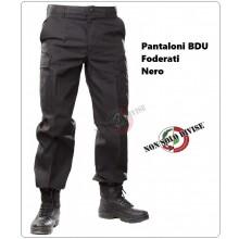 Pantaloni Pantalone Multitasche Multi Tasche Foderato BDU Nero Security Vigilanza Polizia Privata NSD Art.NSD-PANT-N