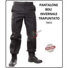 Pantalone BDU Imbottito Multitasche Nero Black 6 Tasche Art.987370