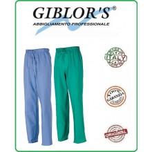 Pantalone Sanitario Medico Infermieristico Cucina Giblor's Azzurro o Verde  Art.1340