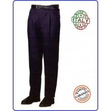 Pantalone Pantaloni 100% Lana Blu Notte Invernale Modello Polizia Locale Vigilanza Art.FAV-PCL