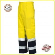 Pantalone Pantaloni Bicolor Giallo Blu Alta Visibilità  Modello Protezione Civile Art.8430N