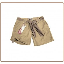 Short Donna Pantaloni Bermuda Pantaloni Corti Raw Vintage Short Classico Sabbia Art.11137004