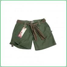 Short Donna Pantaloni Bermuda Pantaloni Corti Raw Vintage Short Classico Verde OD Art.11137001