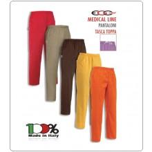 Pantalone Pants Unisex Hose Culisse Pockets Dottore Medico Infermiere Cuoco Chef Professionale Ego Chef Italia Vari Colori Art.3504-COL-2