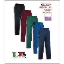 Pantalone Pants Unisex Hose Culisse Pockets Dottore Medico Infermiere Cuoco Chef Professionale Ego Chef Italia Vari Colori Art.3504-COL