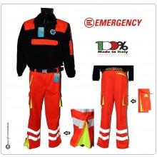 Pantaloni Soccorritore Emergency Unisex con Toppe Arancio Rif. Gialle 118 ANPAS Soccorso Sanitario Art.EY