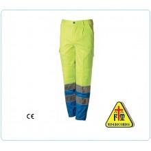 Pantalone Pantaloni Multi Tasche Multitasche Ciano + Giallo Misericordie Misericordia BlueTech  Art.MIS85