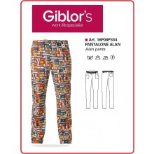 Pantaloni Cuoco Chef Medicale Alan  Giblor's  Italia Art.16P08P334-B
