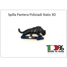 Spille Pins Pantera Nera Squadra Volante Polizia di Stato  Art.PANT-PS