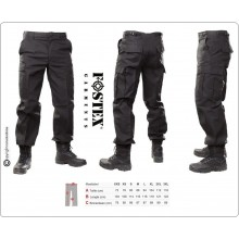 Pantaloni BDU Operativi Multi Tasche OP Ordine Pubblico Nero Personalizzabili con Ricamo Vigilanza Polizia Privata Guardie Giurate Art.111211-N