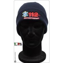Berretto Zuccotto Papalina Watch Cap Invernale con Ricamo 112 Numero Unico Intervento  Art.112-CP