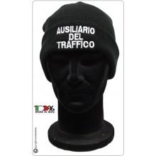 Berretto Zuccotto Papalina Watch Cap Invernale con Ricamo Ausiliario Del Traffico Art.AU-CP